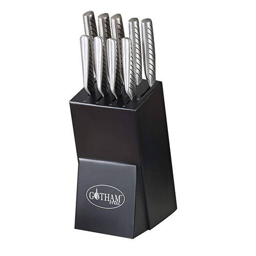 Gotham Steel Pro Cut - Set of 10 With Wooden Block