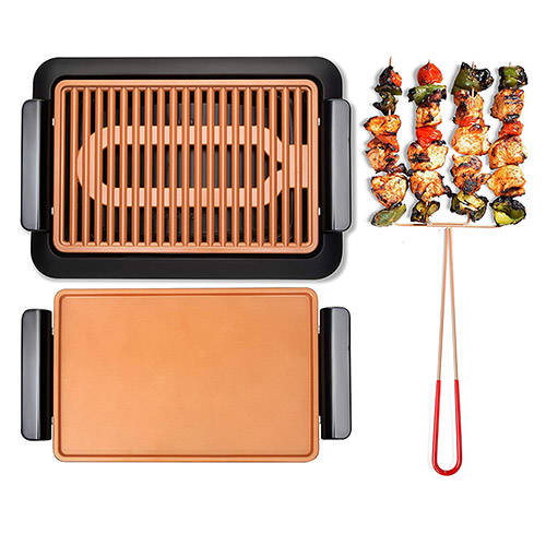LARGE SMOKELESS GRILL W/ GRIDDLE